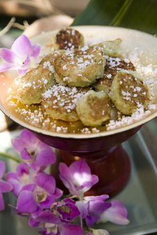 Thai Coconut Cookies Stock Photo