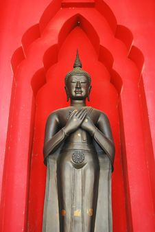 Free Ancient Buddha Statue Standing Stock Image - 16312531