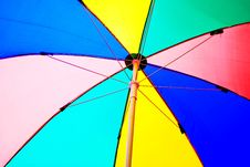 Free Under Colorful Beach Umbrella Royalty Free Stock Image - 16312616