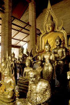 Free Group Of Buddhas. Stock Photo - 16313650