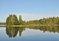 Free Forest Reflected On Lake Royalty Free Stock Photo - 16313975
