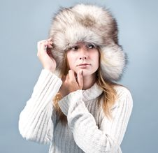 Free Portrait Of Attractive Woman In Winter Style Royalty Free Stock Photo - 16314065