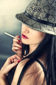 Free Woman Wearing Hat Royalty Free Stock Image - 16314096