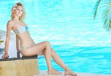 Free Woman Near Pool Stock Photo - 16314550
