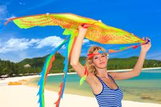 Free Woman With Kite Royalty Free Stock Photos - 16314748