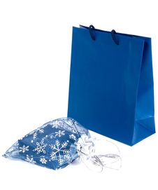 Free Blue Gifts Royalty Free Stock Photo - 16314865