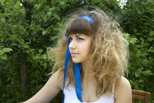 Beautiful Girl With The Crazy Hair Royalty Free Stock Photography