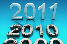 Free 2011.The New Year. Royalty Free Stock Photos - 16316338