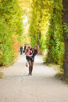 Free Family In Autumn Park Royalty Free Stock Photo - 16316435