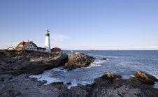 Free Portland Head Light - Lighthouse Royalty Free Stock Photography - 16316537