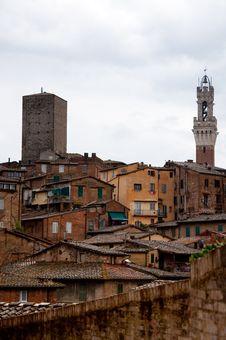 Sienna - Medieval Town Royalty Free Stock Photos