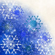 Free Grunge Snowflakes Royalty Free Stock Images - 16317259