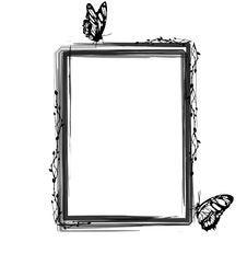 Free Grunge Floral Frame Stock Images - 16317424