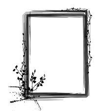 Free Grunge Floral Frame Stock Photography - 16317442