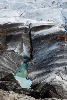 Iceland Glacier Melts Royalty Free Stock Photos