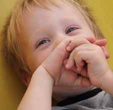 Free Boy Laughs Cheerfully Stock Images - 16317684