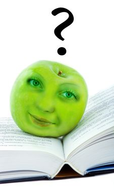 Free Green Apple With Face Royalty Free Stock Photos - 16317798