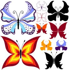 Free Collection Abstract Butterflies Royalty Free Stock Images - 16318159
