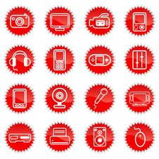 Free Media Icons Stock Image - 16318591