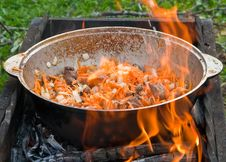 Free Cooking On Open Fire Royalty Free Stock Images - 16319989