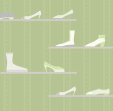 Shoe Display Royalty Free Stock Image