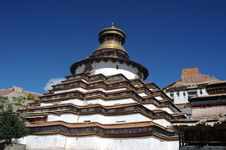 Grand Tibet Pagoda Royalty Free Stock Photography