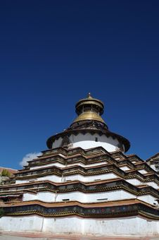 Grand Tibet Pagoda Stock Photography