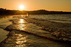 Free Sunset At Sea Royalty Free Stock Photo - 16321165