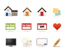 Free Housing Icons Illustration Royalty Free Stock Photos - 16321638