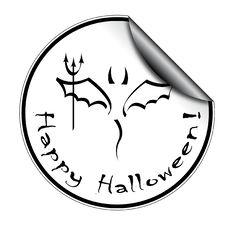 Free Halloween Sticker Stock Image - 16322471