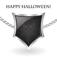 Free Halloween Scull Shield Royalty Free Stock Photography - 16322507