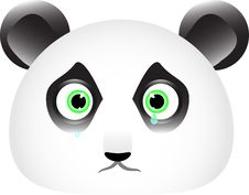 Free Sad Panda Face With Tears In His Eyes Stock Photo - 16323450