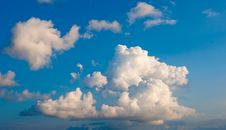 Free White Fluffy Cumulus Clouds On A Blue Sky Stock Images - 16323484