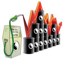 Free Oil Price Royalty Free Stock Photo - 16323885