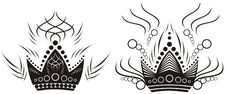 Free Two Black Crowns Royalty Free Stock Images - 16324149