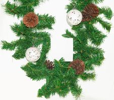 Free Spruce Branches With Christmas Balls. Stock Photography - 16324352