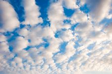 Free White Fluffy Cumulus Clouds. Background. Stock Photos - 16324743