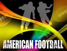 Free American Football Advertising Poster Stock Image - 16324931