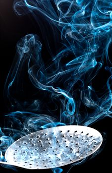 Free Smoke And Spoon Royalty Free Stock Photo - 16325295