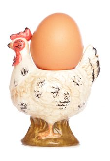 Egg In Hen Egg-cup Stock Images