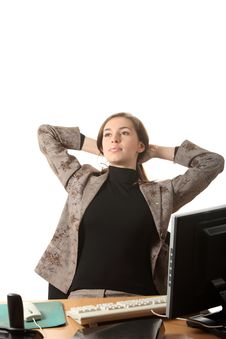 Relax On The Office Royalty Free Stock Photo