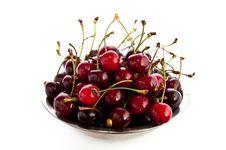 Free Bowl Of Freshly Picked Cherries Stock Image - 16325881