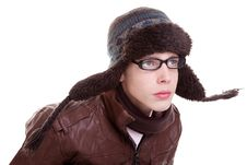 Free Young Boy Looking Serious, With Winter Clothes Stock Images - 16326164