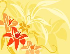 Free Background Flowers Vector Royalty Free Stock Photo - 16326765
