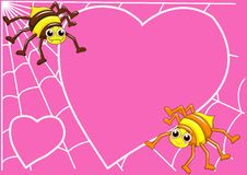 Free Spider And Web Love Royalty Free Stock Image - 16328416
