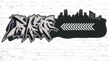 Free Graffiti On Grunge City Backround Stock Images - 16329034