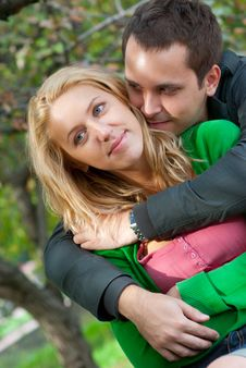 Free Beautiful Young Couple Embracing Stock Image - 16329541