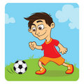 Free Happy Boy Playing Soccer Royalty Free Stock Photography - 16336967
