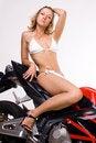Free Sexy Girl On Motorbike Royalty Free Stock Image - 16337296