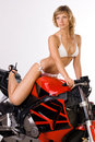 Free Sexy Girl On Motorbike Royalty Free Stock Photography - 16337307